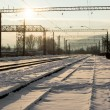 Stock Photo: Railway junction station