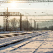 Railway junction station — Stockfoto #39798435