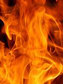 Pomarańczowe płomienie ognia — Zdjęcie stockowe