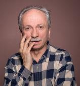 Verrast bejaarde mannen — Stockfoto