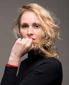 Retrato de mulher elegante — Fotografia Stock