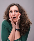 Picture of surprised woman — Stockfoto