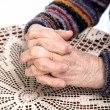 Old woman's hands — Stock Photo #42427097