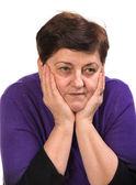 Porträtt av mogen kvinna — Stockfoto