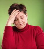 患有头痛的女人 — 图库照片