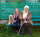 Mormor och barnbarn — Stockfoto