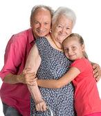 Glückliche mehrgenerationen-familie — Stockfoto