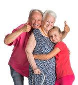 Happy multi-generation family — Stock Photo