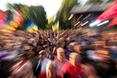 Crowd of people — Stock Photo