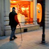 杖を持った老人 — ストック写真