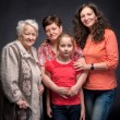 Four generations of women — Stock Photo #47707509