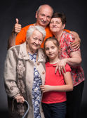 Happy multi-generation family — Stock Photo