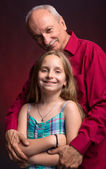 Grandfather with granddaughter  — Stock Photo