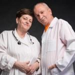 Two senior doctors — Stock Photo #49710461