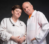 Two senior doctors — Stock Photo