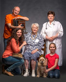 Happy multi-generation family  — Foto de Stock