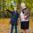 Grandmother and granddaughter — Stock Photo #50282527