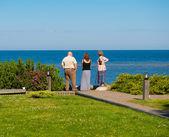 Family enjoying their vacation — Stock fotografie