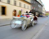 Horse-drawn carriage in Krakow, Poland — Stock Photo