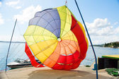 Coloured parachute — Photo
