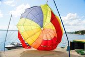 Coloured parachute — 图库照片