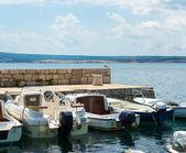 Small Mediterranean port — Stock Photo