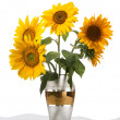 Beautiful sunflower in a vase — Stock Photo #50864781
