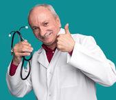 Medico con stetoscopio — Foto Stock