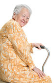 Portrait of old smiling woman — Stock Photo