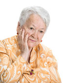 Portrait of thoughtful  old woman — Stock Photo