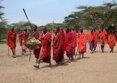 Masai Tribe Warriors — Stock Photo