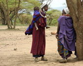 Masai Women with a child — Stock Photo