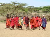 Masai stamm — Stockfoto