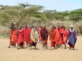 Masajského kmene — Stock fotografie