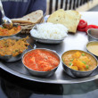 Traditional indian meal - thali — Stock Photo