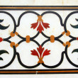 Stock Photo: Detail of pietrdurinlaid work in Taj Mahal