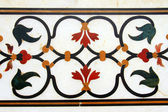 Detail of pietra dura inlaid work in Taj Mahal — Stock Photo
