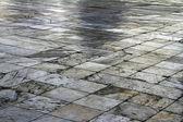 Square diagonal pavement — Stock Photo