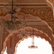 Foto Stock: Travel India: Luxurious interior detail of Jaipur city palace