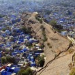 Travel India: General view of jodhpuri blue houses from the fort — Stock Photo #19533155