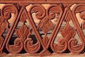 Detail of red sandstone balustrade, rajasthan, India — Stock Photo
