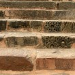 Old stone stairs in Khajuraho, India - Stock Photo