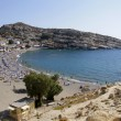 Travel Greece: Matala beach in Crete in Summer — Stock Photo