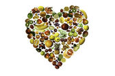 Fruit heart — Stock Photo