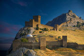 Genoese fortress in Sudak. — Stock Photo