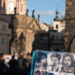 Caricature drawing on Charles Bridge, Prague. — Stock Photo