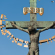 Statuary of St. Cross � Calvary, Charles bridge, Prague - Stock Photo
