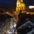 St.Nicholas cathedral in mala strana, Prague - Stock Photo