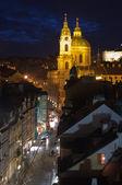 St.Nicholas cathedral in mala strana, Prague — Stock Photo