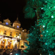 Stock Photo: Christmas decorations in Monaco, Montecarlo,France
